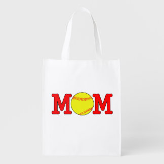 Softball Mom Reusable Grocery Bag