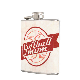 Softball Mom Stainless Steel Hip Flask