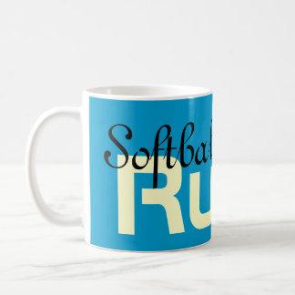 Softball Moms Rule! Coffee Mugs Christmas gifts