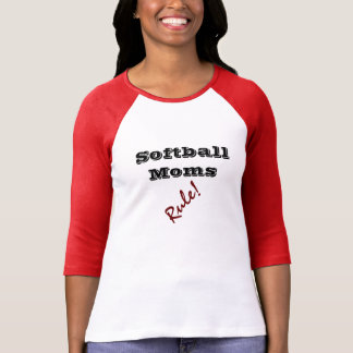 SOFTBALL MOMS Rule t-shirts Tees tshirts Mom gifts