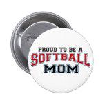 Softball mum button