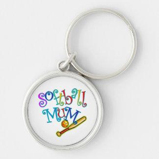Softball Mum Key Chain