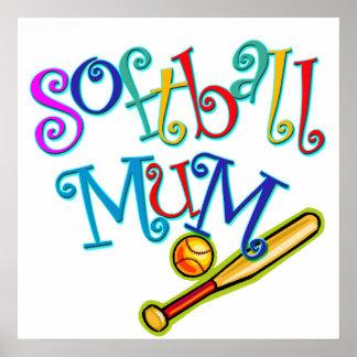 Softball Mum Poster