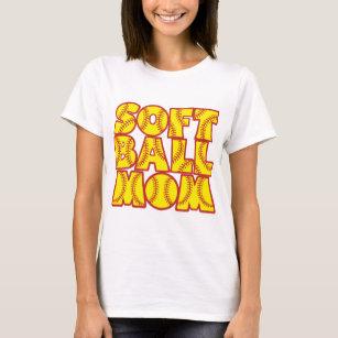 Softball Mum, red&yellow T-Shirt