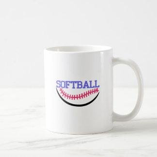 Softball Name Drop Basic White Mug