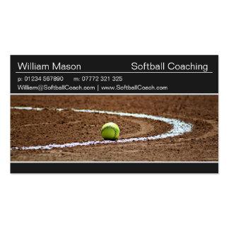 Softball on a Softball Field Photo Business Card