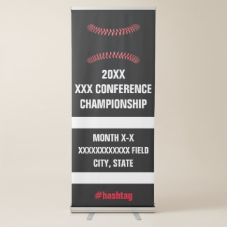 Softball or Baseball Conference Tournament Signage Retractable Banner