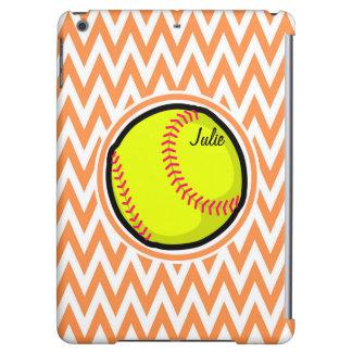 Softball; Orange and White Chevron