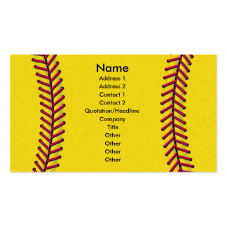 Softball Pack Of Standard Business Cards