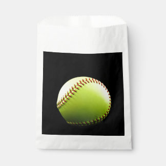 Softball Party Favor and Treat Bags