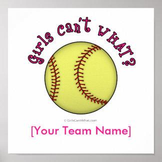 Softball-Pink Poster