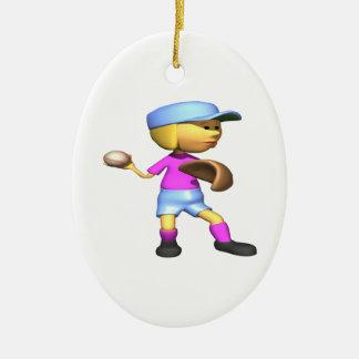 Softball Pitcher Christmas Ornament