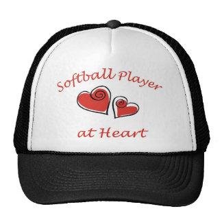 Softball Player at Heart Hats