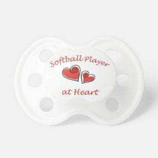 Softball Player at Heart Pacifiers