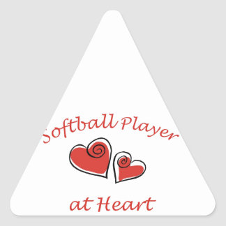 Softball Player at Heart Sticker