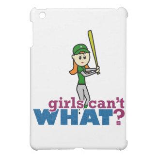 Softball Player Girl in Green iPad Mini Cover
