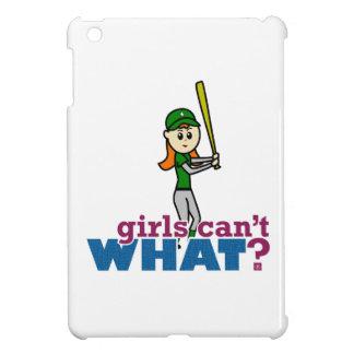Softball Player Girl in Green iPad Mini Cases