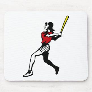 Softball Player Mousepads