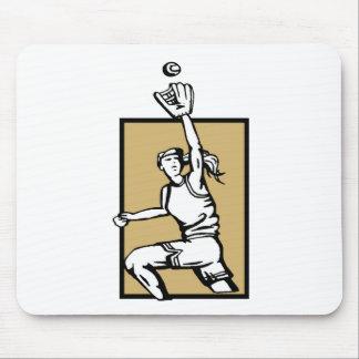 Softball Player Mouse Pads
