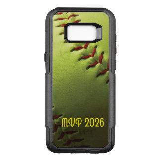 Softball Player Name Yellow Ball OtterBox Commuter Samsung Galaxy S8+ Case