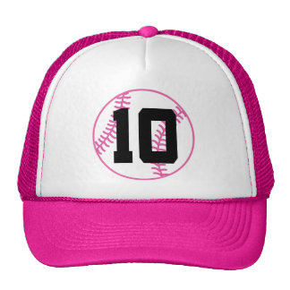 Softball Player Uniform Number 10 Gift Hats