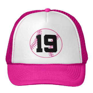 Softball Player Uniform Number 19 Gift Hats