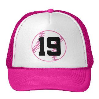 Softball Player Uniform Number 19 Gift Hats