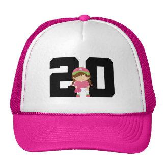 Softball Player Uniform Number 20 (Girls) Gift Hats