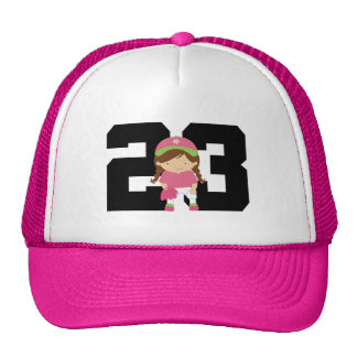 Softball Player Uniform Number 23 (Girls) Gift Cap