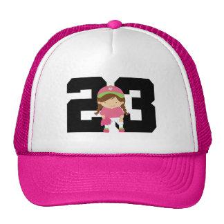 Softball Player Uniform Number 23 (Girls) Gift Hat