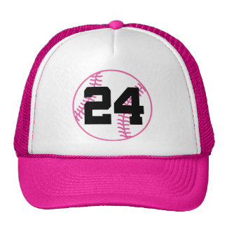 Softball Player Uniform Number 24 Gift Hats