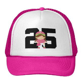 Softball Player Uniform Number 25 (Girls) Gift Cap