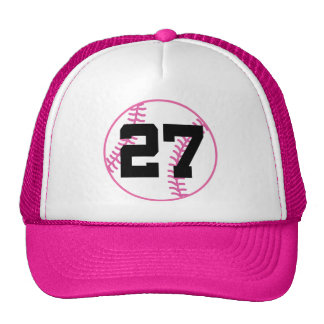 Softball Player Uniform Number 27 Gift Cap