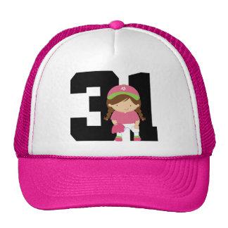 Softball Player Uniform Number 31 (Girls) Gift Cap