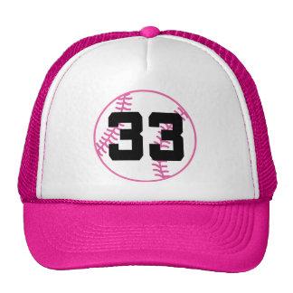 Softball Player Uniform Number 33 Gift Trucker Hats