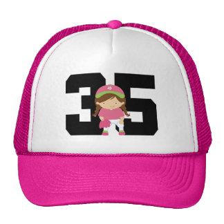 Softball Player Uniform Number 35 (Girls) Gift Cap