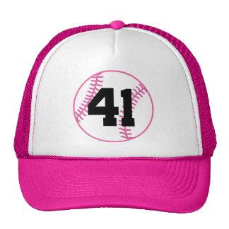 Softball Player Uniform Number 41 Gift Cap