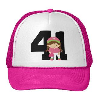 Softball Player Uniform Number 41 (Girls) Gift Mesh Hat