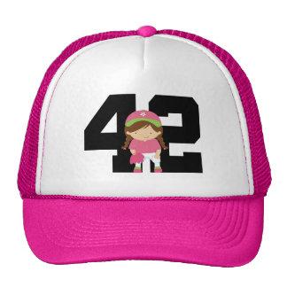 Softball Player Uniform Number 42 (Girls) Gift Cap