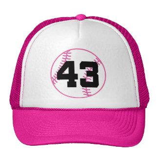 Softball Player Uniform Number 43 Gift Hats