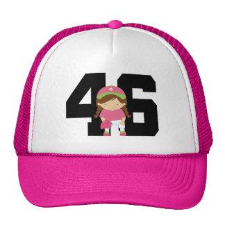 Softball Player Uniform Number 46 (Girls) Gift Cap
