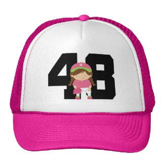 Softball Player Uniform Number 48 (Girls) Gift Cap
