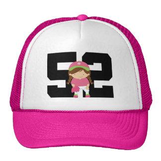 Softball Player Uniform Number 52 (Girls) Gift Cap