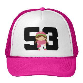 Softball Player Uniform Number 53 (Girls) Gift Cap