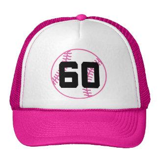 Softball Player Uniform Number 60 Gift Trucker Hats