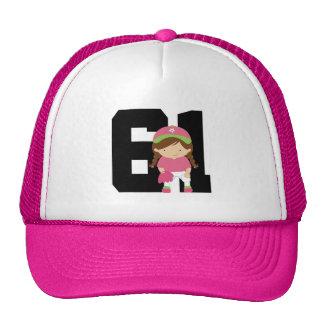 Softball Player Uniform Number 61 (Girls) Gift Mesh Hat
