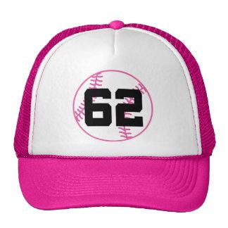 Softball Player Uniform Number 62 Gift Hat
