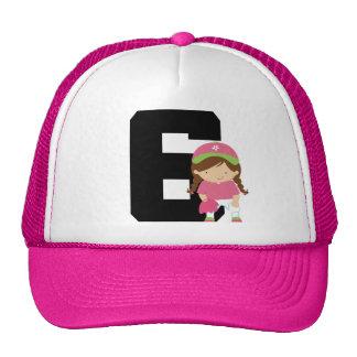 Softball Player Uniform Number 6 (Girls) Gift Hat
