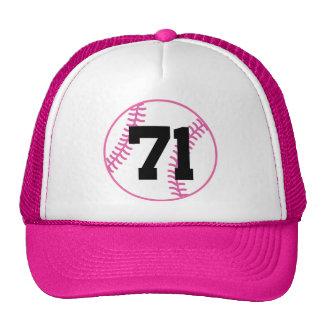 Softball Player Uniform Number 71 Gift Mesh Hats