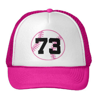 Softball Player Uniform Number 73 Gift Mesh Hat